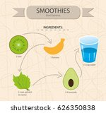 smoothies illustration in... | Shutterstock .eps vector #626350838