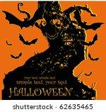 halloween bats  vector | Shutterstock .eps vector #62635465