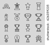 contest icons set. set of 16... | Shutterstock .eps vector #626359235