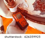 personal h2s gas detector check ... | Shutterstock . vector #626359925