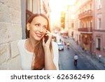 young european woman calling... | Shutterstock . vector #626362496