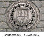 prague manhole cover | Shutterstock . vector #626366012