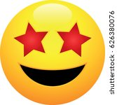 grinning face with star eyes... | Shutterstock .eps vector #626380076