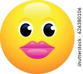 kissing face emoji | Shutterstock .eps vector #626380106