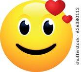face in love emoji | Shutterstock .eps vector #626380112