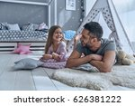 dad is her best friend. father... | Shutterstock . vector #626381222