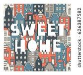 netherlands houses set  hand...   Shutterstock .eps vector #626387582