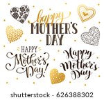 happy mother's day text for... | Shutterstock .eps vector #626388302