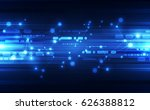 abstract technology concept.... | Shutterstock .eps vector #626388812
