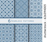 a pack of vintage pattern... | Shutterstock .eps vector #626394005