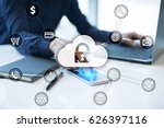 cyber security  data protection ... | Shutterstock . vector #626397116
