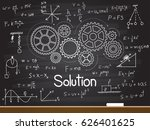 chalk hand drawing with... | Shutterstock .eps vector #626401625