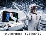 3d rendering robot working with ... | Shutterstock . vector #626406482