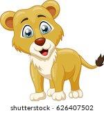 cute lion cartoon. vector... | Shutterstock .eps vector #626407502