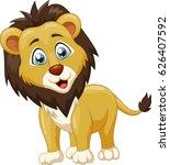 cute lion cartoon. vector... | Shutterstock .eps vector #626407592