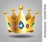 golden crown for a royal king... | Shutterstock .eps vector #626407646