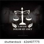 vintage lawyer logo. justice... | Shutterstock . vector #626407775