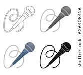 microphone icon in cartoon... | Shutterstock .eps vector #626408456