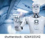3d rendering robot working with ... | Shutterstock . vector #626410142