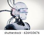 3d rendering robot with brain... | Shutterstock . vector #626410676