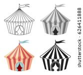 circus tent icon in cartoon... | Shutterstock .eps vector #626411888