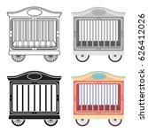 circus wagon icon in cartoon... | Shutterstock .eps vector #626412026