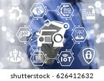 automobile manufacturing... | Shutterstock . vector #626412632