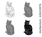 nebelung icon in cartoon style...   Shutterstock .eps vector #626413076
