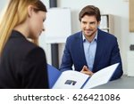 handsome young businessman in a ... | Shutterstock . vector #626421086