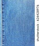 Close Up Jeans Denim With Seam...