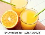 Orange Juice With Sliced Orange ...