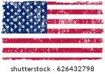grunge usa flag.american flag... | Shutterstock .eps vector #626432798