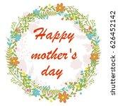 vector flowers set. beautiful... | Shutterstock .eps vector #626452142