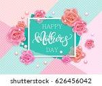 happy mother's day vector hand... | Shutterstock .eps vector #626456042