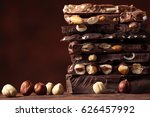 chocolate     nut chocolate  ... | Shutterstock . vector #626457992