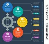 web design template for... | Shutterstock .eps vector #626458178
