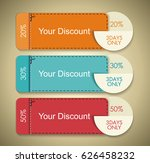 vector set of discounts cute... | Shutterstock .eps vector #626458232