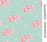 seamless pattern with pink and... | Shutterstock .eps vector #626459792