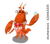 animated red lobster delivers a ... | Shutterstock .eps vector #626463335