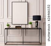 mock up poster in the interior... | Shutterstock . vector #626466152