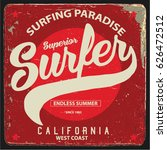 vintage surfing graphics and... | Shutterstock .eps vector #626472512