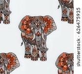 seamless pattern of an red... | Shutterstock . vector #626475935