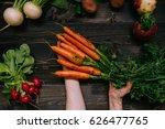 organic vegetables. farmer's... | Shutterstock . vector #626477765