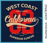 vintage surfing graphics and... | Shutterstock .eps vector #626478962