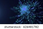 particles explosion background  ... | Shutterstock . vector #626481782