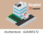 3d isometric hospital with... | Shutterstock .eps vector #626485172