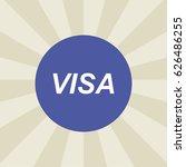 visa icon. sign design....