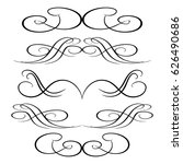 decorative monograms and... | Shutterstock .eps vector #626490686