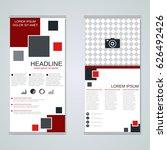 modern roll up business banners ...   Shutterstock .eps vector #626492426