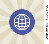 globe icon. sign design.... | Shutterstock . vector #626495732